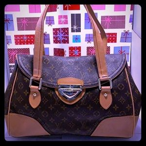 Authentic LV  Monogram Beverly GM Expandable Bag